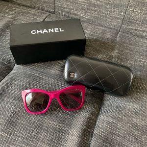 Chanel 💯  Authentic Fuchsia Square Sunglasses